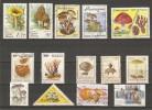 CHAMPIGNONS - Petit Lot De 14 Timbres Différents - Alla Rinfusa (max 999 Francobolli)