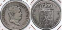 ITALIA SICILIA 120 GRANA PIASTRA 1857 PLATA SILVER R - Monedas Regionales