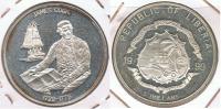 LIBERIA 5 DOLLARS 1999 PLATA SILVER R - Liberia