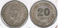 MALASIA 20 CENTS 1939 R - Malasia
