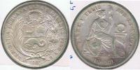 PERU SOL 1865 PLATA SILVER R. - Perú