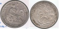 PERU SOL 1866 PLATA SILVER R. - Perú
