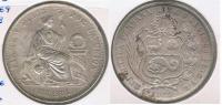 PERU SOL 1869 PLATA SILVER R. BONITA - Perú