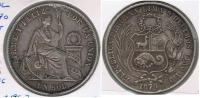 PERU SOL 1870 PLATA SILVER R - Perú