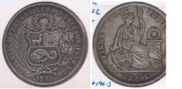 PERU SOL 1872 PLATA SILVER R - Perú
