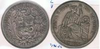 PERU SOL 1887 PLATA SILVER R - Perú