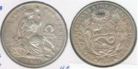 PERU SOL 1888 PLATA SILVER R - Perú