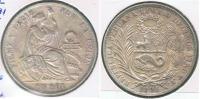 PERU SOL 1891 PLATA SILVER R - Perú
