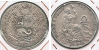 PERU SOL 1891 PLATA SILVER R2 - Perú