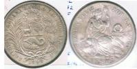 PERU SOL 1892 PLATA SILVER R - Perú