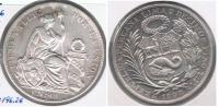 PERU SOL 1896 PLATA SILVER R - Perú