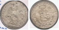 PERU SOL 1914 PLATA SILVER R - Perú