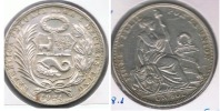 PERU SOL 1924 PLATA SILVER R - Perú
