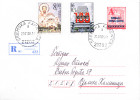 SERBIA AND MONTENEGRO-REGISTERED MIX FRANKING PS WITH ADDITIONAL STAMP - 1992-2003 Federal Republic Of Yugoslavia