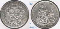 PERU SOL 1934 PLATA SILVER R - Perú