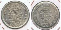 SANTO TOME PRINCIPE PORTUGAL 10 ESCUDOS 1951 PLATA SILVER R - Santo Tomé Y Príncipe