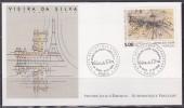 = Série Européenne Art Contemporain Enveloppe 1er Jour Paris 11.12.93 N°2835 Oeuvre Marie Hélène Vieira Da Silva Gravure - 1990-1999