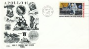 Apollo-12 Cover, Cape Canaveral Postmark 19 November 1969, Astronauts Conrad Bean & Gordon, 2nd Moon Landing - Covers & Documents