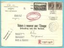 168+208 Op Brief Aangetekend VALEURS A RECOUVRER / POSTAUFTRAG Met Stempel LUXEMBOURG - Luxembourg