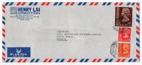 HONG-KONG--1980-Lettre HONG KONG Pour PARIS (France)--composition De Timbres--personnalisée HENRY LAI Creation - Hong Kong (...-1997)