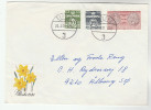 1981 Aldborg DENMARK COVER Stamps COIN Etc  With EASTER LABEL Flower Flowers - Danimarca