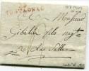 HERAULT De MONTAGNAC LAC Du 15/03/1817 Linéaire Rouge 45x10 - Marcophilie (Lettres)