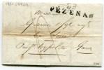 HERAULT De PEZENAS LAC Du 16/07/1821 Linéaire 49x13 - Marcophilie (Lettres)