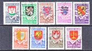 BELGIUM  B 264-72    (o)   ARMS - Used Stamps