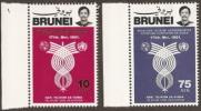 Brunei,  Scott 2016 # 260-261,  Issued 1981,  Set Of 2,  MNH,  Cat $ 3.45,  Telecom - Brunei (1984-...)