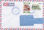 Z3] Enveloppe Cover Burundi Rhinoceros Rhino Ceratotherium Simum - Rhinoceros