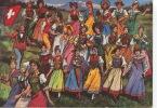 Costumes Suisses Folklore : Argovie - Jeu Du Drapeau - Grisons (Uri Zurich Unterwald) - Schweiz