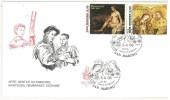 SAN MARINO - FDC - VENETIA - ANNO 2006 - ARTE : GENTILE DA FABRIANO, MANTEGNA, REMBRANDT, CEZANNE - 2 BUSTE - - FDC