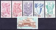 Tchécoslovaquie 1958 Mi 1068-72+1091 (Yv 952-6 A), Obliteré - Used Stamps