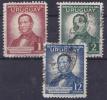 URUGUAY - 1942-  MI. Nrs. 633,634 Et 636 -  Fr. Acuna De Figueroa -3 Waarden/valeurs- Gebruikt/-used/Oblit./usato - ° - Uruguay