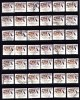 Australia 1981 Endangered Species 50c Leadbeater's Possum  85+ Used  - 2 Scans - Sheets, Plate Blocks &  Multiples