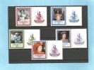 VANUATU - 60ème Anniversaire Elisabeth II  (60th QE II Birthday) - YT 735-739 ** (MNH) Avec Vignette- 1986 - Vanuatu (1980-...)