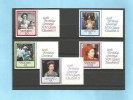 VANUATU - 40ème Anniv. Mariage Elisabeth II  (QE II 40th Wedding Anniversary) - YT 792-796 ** (MNH) Avec Vignette- 1987 - Vanuatu (1980-...)