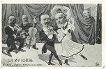 Cpa Illustrateur, Caricature Politique : La Mattchiche ( Résultat Du Conflit Franco - Allemand ) - Illustrateurs & Photographes
