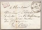 TYPE 11 De SEZANNE  Du 8 Aout 1835 + PP En Rouge - Marcofilie (Brieven)