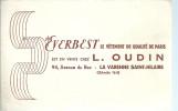 BUVARD   LA VARENNE SAINT HILAIRE   EVERBEST   En Vente Chez L. OUDIN   Le Vetement De Qualite De Paris    ..... - Textile & Vestimentaire