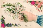 Postkaart / Post Card / Romantique / Romantic / Bas Reliëf / RELIEF / 1906 / Lelietje-van-dalen / Lily Of The Valley - Saint-Valentin