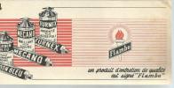 BUVARD  FLAMBO  Un Produit D'entretien De Qualite ....    ..... - Produits Ménagers