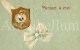 Postkaart / Post Card / Romantique / Romantic / Bas Reliëf / RELIEF / 1906 / Pensez à Moi / Viooltje - Saint-Valentin