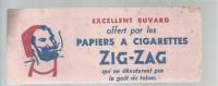 BUVARD   ZIG- ZAG  Papiers A Cigarettes   Qui Ne Denaturent Pas Le Gout Du Tabac    ..... - Tabac & Cigarettes