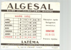 BUVARD   PARIS  Laboratoires De Therapeutique Moderne  ALGESAL    Mars 1952 .... - Produits Pharmaceutiques