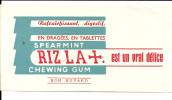 BUVARD  RIZ LA+  Est Un Vrai Delice  Chewing Gum  Rafraichissant, Digestif, En Dragees, En Tablettes Spearmint    .... - Sucreries & Gâteaux
