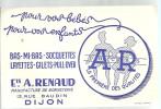 BUVARD  DIJON  Ets A. RENAUD  Manufacture De Bonneterie  Pour Vos Bebe, Pour Vos Enfants   La Premiere Des Qualites... - Textile & Vestimentaire
