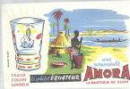 BUVARD         AMORA   La Moutarde De DIJON  Une Nouveaute      Le Gobelet Equateur  ............. - Alimentaire