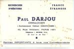 BUVARD      PARIS  PAUL DARJOU  Recherches D'heritiers    ..... - Banque & Assurance