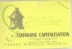 BUVARD   PARIS  EQUANAISE CAPITALISATION  ..... - Banque & Assurance